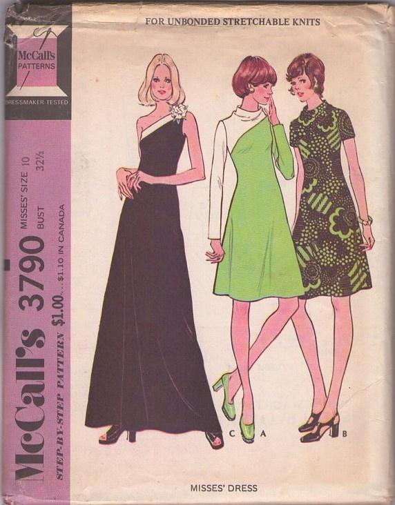 Vintage 70's  Disco Red Carpet One Slung Shoulder Maxi Gown