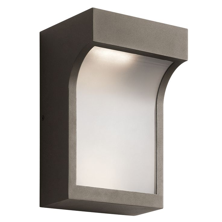 Architectural Led Wall Sconces : Shelby 2 Light LED Outdoor Wall Light in Textured Architectural Bronze (AZT) Bronze Finishes ...