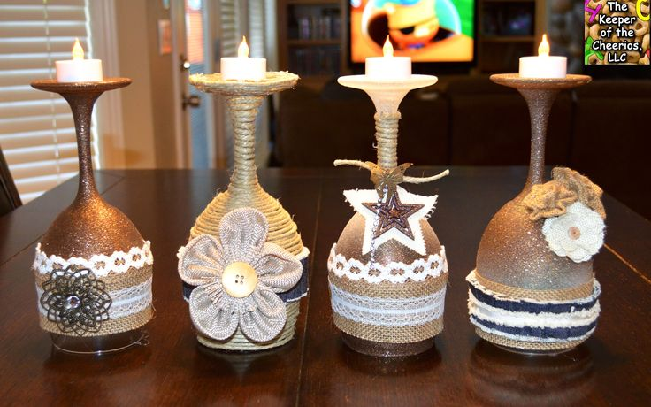 The Keeper of the Cheerios: Rustic Wine Glasses