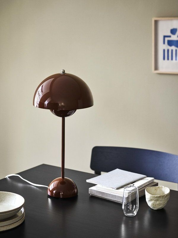 Tradition Flowerpot Vp3 Table Lamp Red Brown Red Table Lamp Table Lamp Lamp