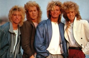 Platinum Blonde - this poster was on my bedroom wall...look at that amazing hair!!