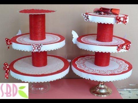 Tutorial: Porta Cupcakes! - DIY Cupcakes stand! - YouTube