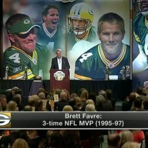 Green Bay Packers Hall of Fame quarterback Brett Favre: 'Today has been such a special day'