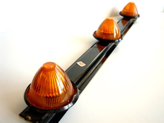 Vintage Amber Light Bar for Trucks and Buses - Repurpose as unique industrial home decor or Halloween Party Decor on Etsy, $48.00