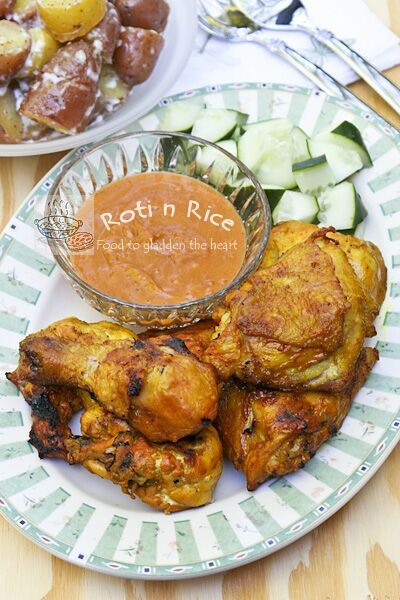 Ayam Panggang Kunyit - tasty and aromatic grilled turmeric chicken | Food to gladden the heart at RotiNRice.com