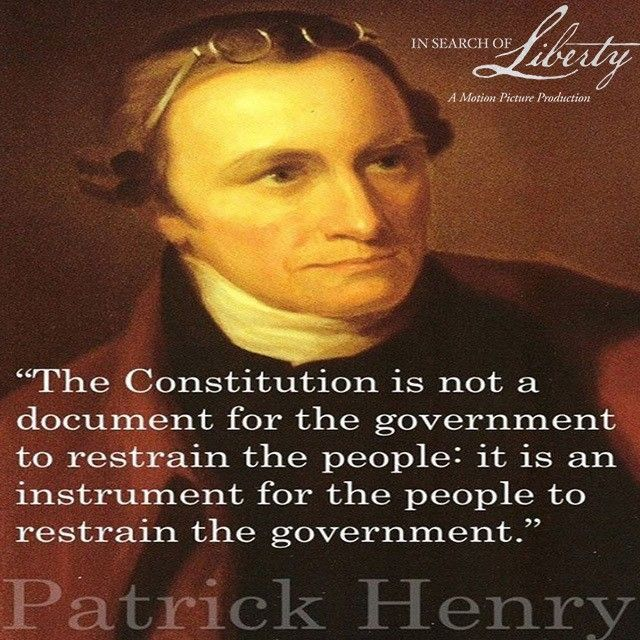 patrick henry and the constitution Which best describes patrick henry ahe agreed with alexander hamilton and opposed the constitution bhe was a federalist and opposed the constitution.