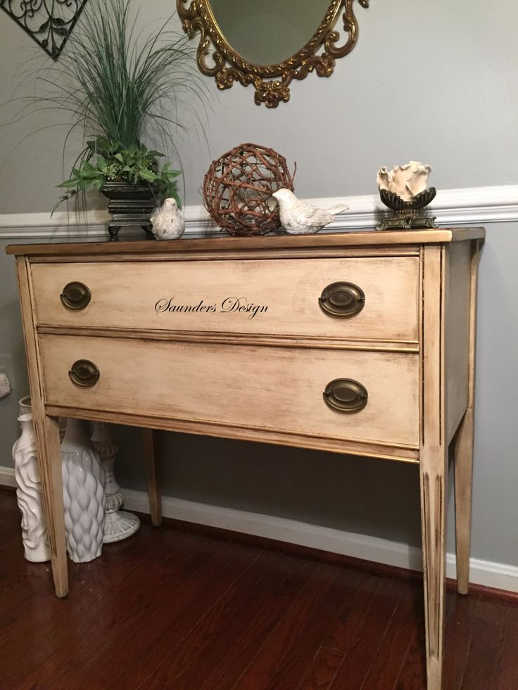 Shabby Chic Console Table by SaundersDesign on Etsy
