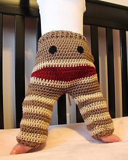 INSPIRATION.....Sock monkey baby PANTS PATTERN FOR SALE..