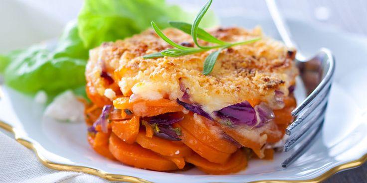 Gratin de carottes confites au parmesan