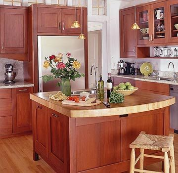 Cherry Butcher Block Kitchen Island : 17 Best images about Butcher block island on Pinterest Islands, Cabinets and Wood countertops