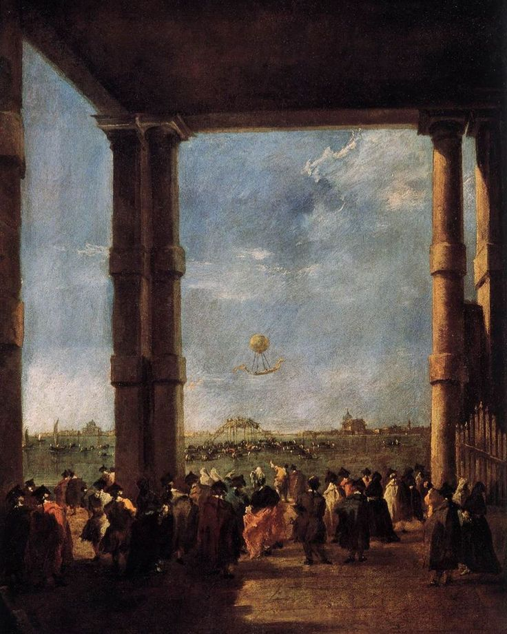 Dailyart On Instagram Francesco Guardi Viewed A Hot Air Balloon Ascent In 1782 Two Years Before He Painted Thi Francesco Guardi Painting Artwork Painting