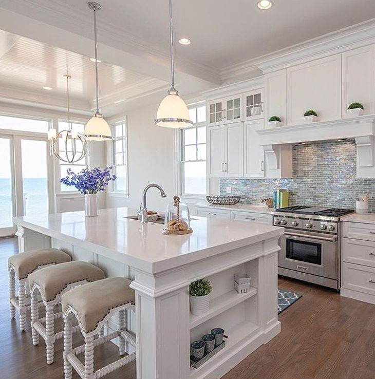 Beautiful White Kitchen Home Builderu0027s site with