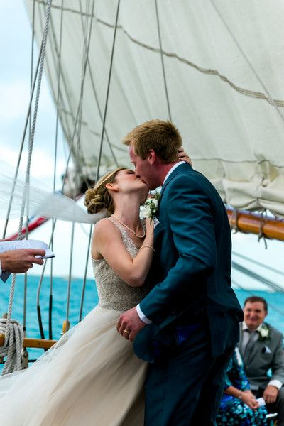 Nautical Florida Boat Wedding