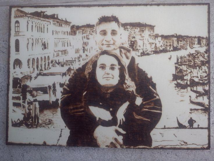 """""""Ritratto a Venezia""""  Dimensione A4  Compensato di pioppo"""