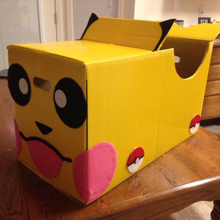 Pokemon Pikachu cardboard box car