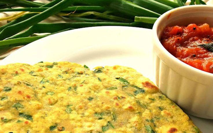 Spring Onion Parathas Recipe (Scallions Stuffed Whole Wheat Flatbread)