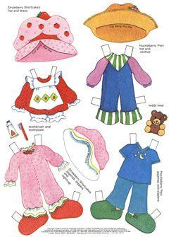 Strawberry shortcake paper dolls.. printable..