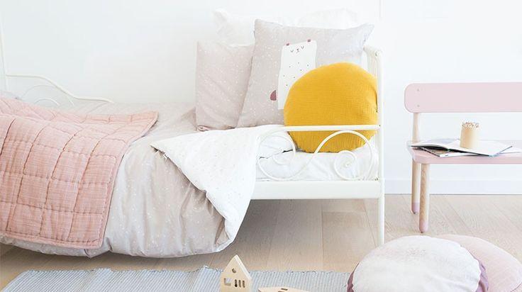 Lookbook Juego funda nórdica Cosmos Rosa. Ropa de cama infantil