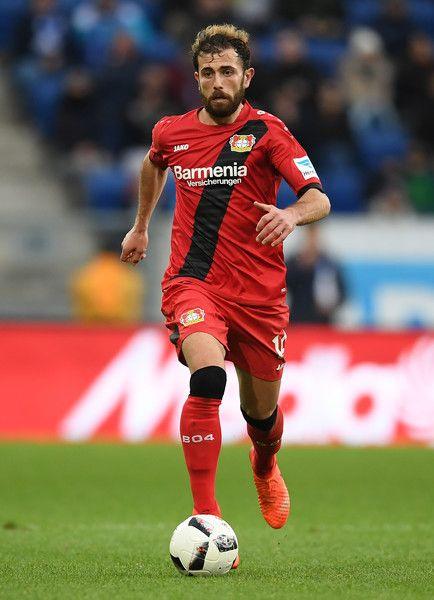 Admir Mehmedi of Leverksuen controls the ball during the Bundesliga match between TSG 1899 Hoffenheim and Bayer 04 Leverkusen at Wirsol Rhein-Neckar-Arena on March 18, 2017 in Sinsheim, Germany.
