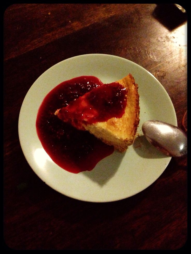 From recipe I love luscious baked cheesecake from taste.com.au with berry and orange sauce