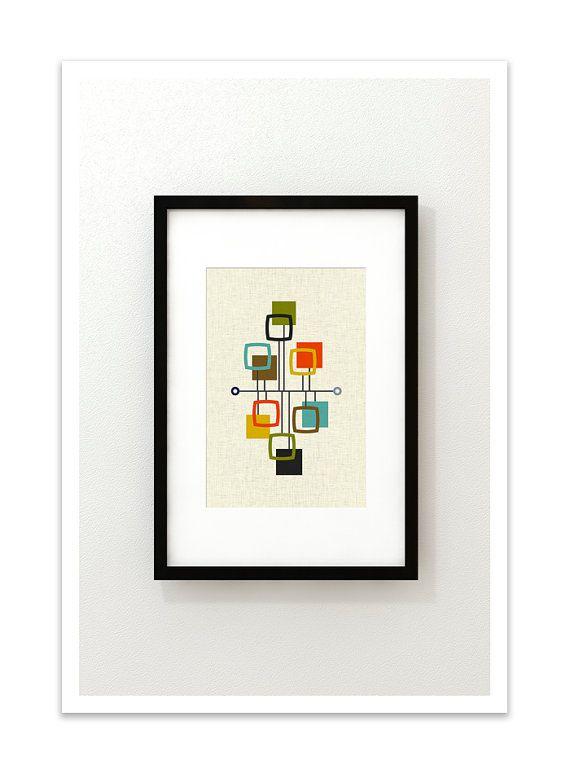 WEERGAVE half eeuw moderne Deense moderne abstracte Eames