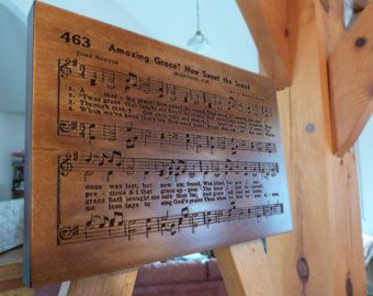 Amazing Grace hymn carving on Maple wood - Edit Listing - Etsy