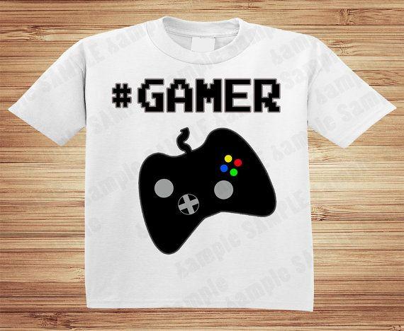 GAMER SHIRT no age Video Game XBox Wii by ForgetMeNotShoppeXO