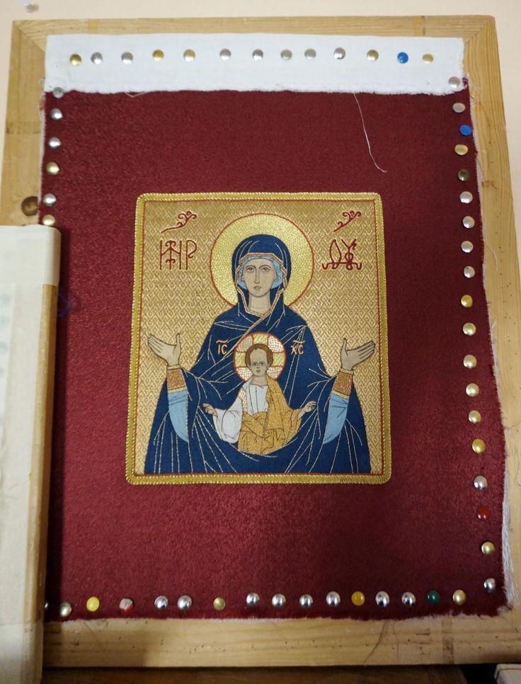 Икона «Знамение», лицевое шитьё Путеводитель по русским ремёслам, CC BY-SA 3.0