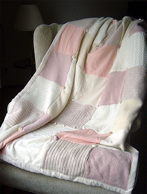 Snug As A Bug 100% Wool Recycled Sweater Quilts are handmade, one of a kind and extra warm! Use them any time you need to chase a chill away.    Each