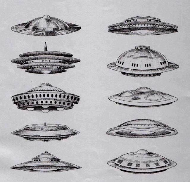 how to draw a alien ship