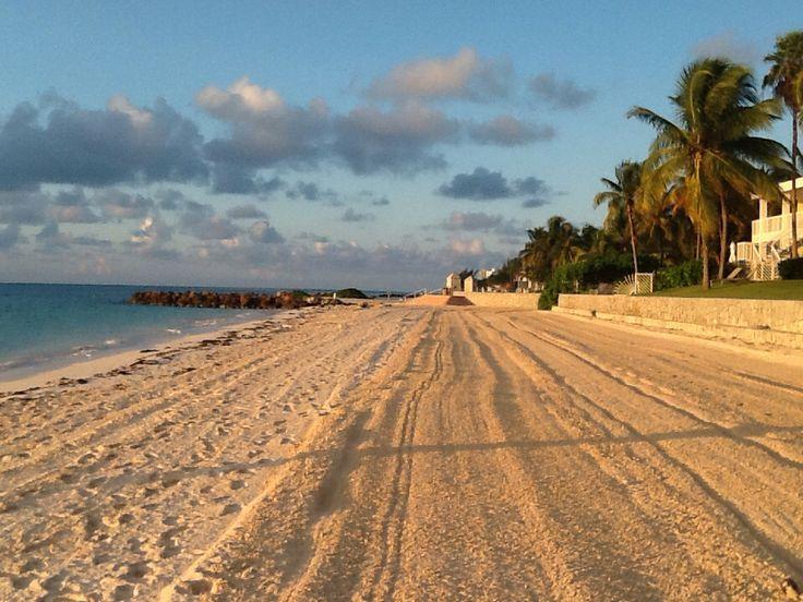 Furrowed sand along Memories Grand Bahamas looks like a soft landing strip!