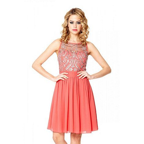 22 Best Images About Peach Short Bridesmaid Dresses On