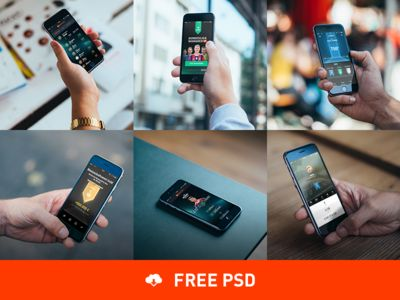 6 Photorealistic iPhone 6 mockups