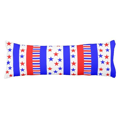 Stars and Stripes Pattern USA Flag Colors #bodypillow