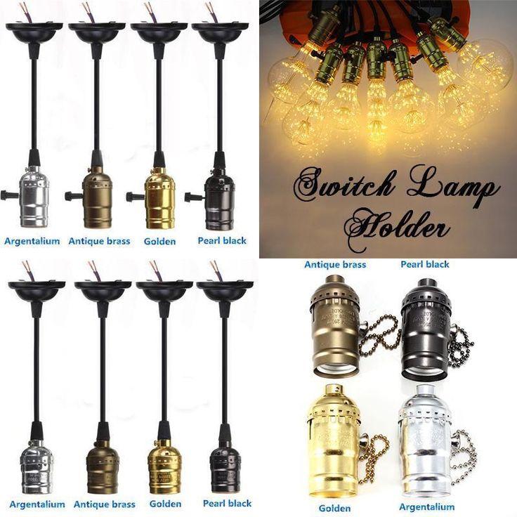 Soffitto Lampadina Ciondolo vite E27 Hang Lamp Cord Grip Holder per le lampade in Casa, arredamento e bricolage, Illuminazione da interno, Lampadari da soffitto | eBay