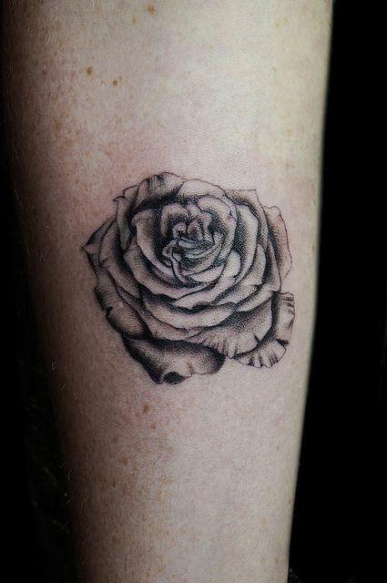 Custom vintage rose tattoo | Flickr - Photo Sharing!