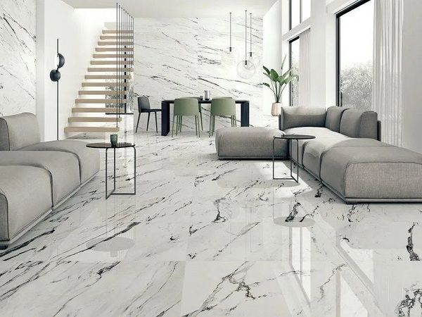 25 Latest Tiles Designs For Hall With Pictures In 2021 Living Room Tiles White Marble Floor Tile Floor Living Room