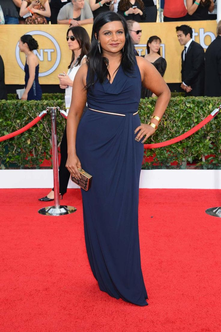 Emmy fashion 2014 best red carpet dresses blogher - Star Hollywood The Annual Screen Actors Guild Awards At The Shrine Auditorium On January 2014 In Los Angeles California Mindy Kaling In David Meister