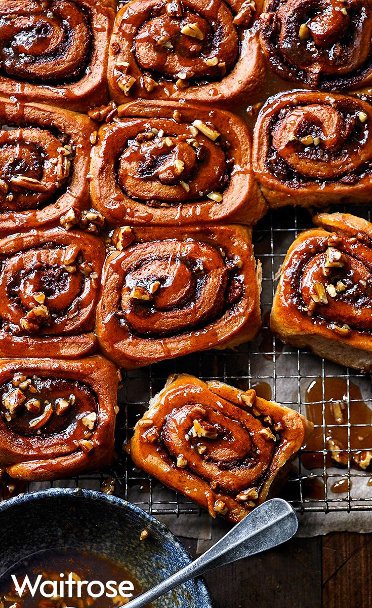 Our sticky maple pecan buns have a soft, brioche-like texture making them even more scrumptious. Serve warm with a sprinkling of pecans for an extra crunch. See the full recipe on the Waitrose website.