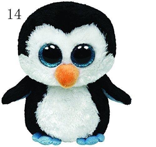 Ty Beanie Boos Original Big Eyes Plush Toy Doll Child Birthday Husky Cat Owl Unicom Baby Foxy Toy 15cm