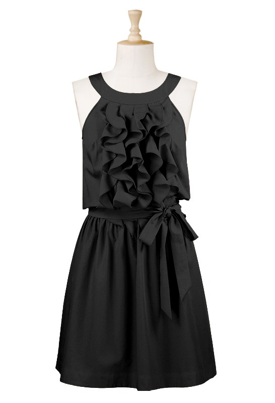 black ruffle dressSummer Dresses, Fashion, Style, Closets, Clothing, Bridesmaid Dresses, Ruffles Dresses, Little Black Dresses, Black Ruffles