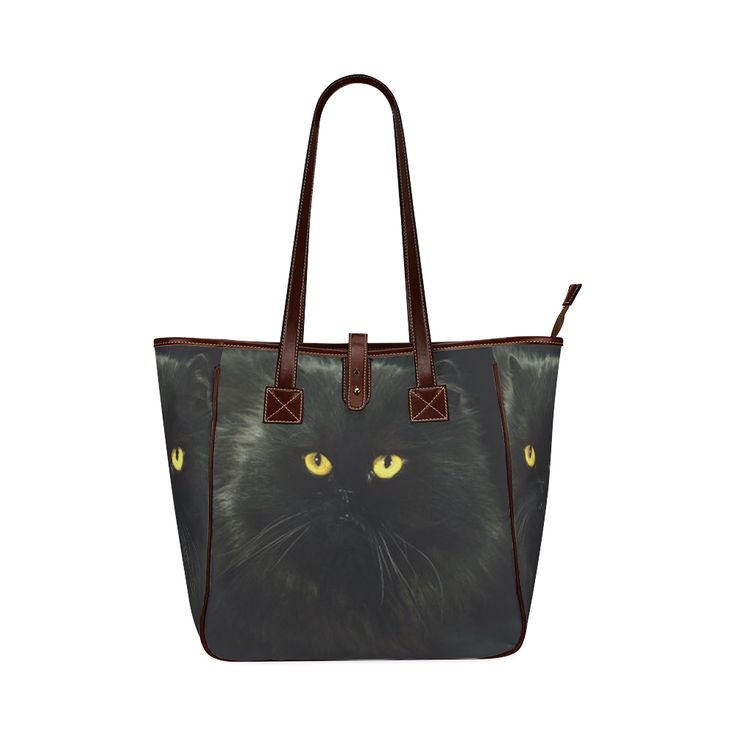 Black Cat Classic Tote Bag (Model 1644)