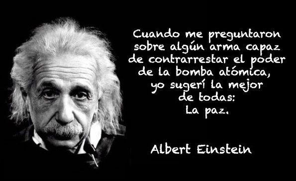 Frases de Albert Einstein sobre la guerra