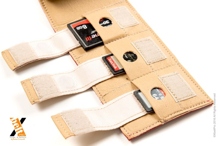XbeltPro leather straps and harness, created Wallet for memory cards, and smartphoe. Authentic leather.