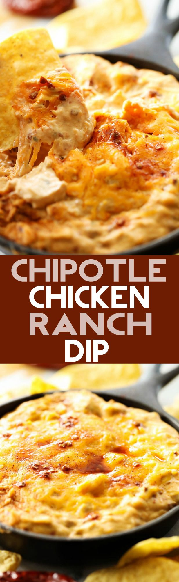 Chipotle Chicken Ranch Dip... A delicious smooth and creamy dip that ...