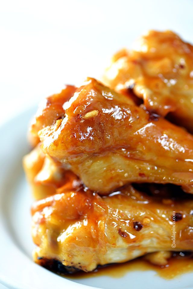 Maple Glazed Chicken Wings Recipe ~ the perfect blend of sweet, spicy, salty, hot, and smoky… these chicken wings have it all.