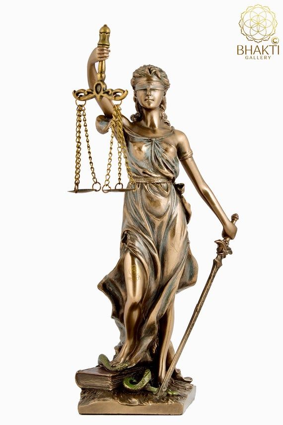 Lady Justice Statue Virtues Of Justice Greek Roman Symbol Of Justice Lady Justice Holding Sword And Scales 20 5 Cm Femida Statue In 2021 Lady Justice Statue Justice Statue Lady Justice
