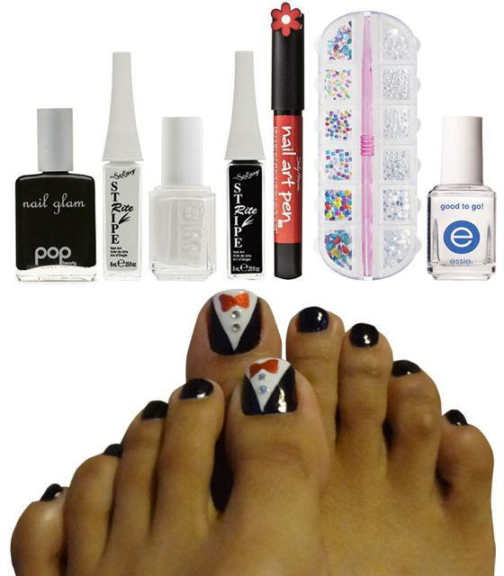 TUXEDO NAIL ART TUTORIAL!!!    subscribe to my blog for freebies, DIY and tutorials!