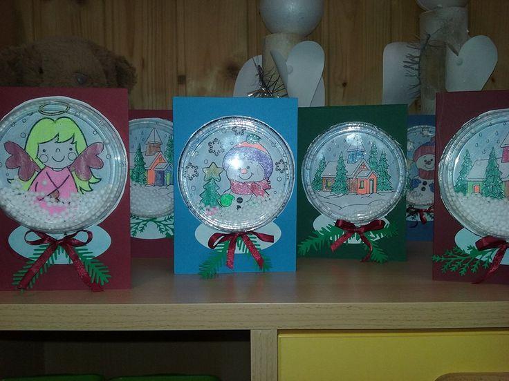 Karácsonyi üdvözlőlap rázóablakkal