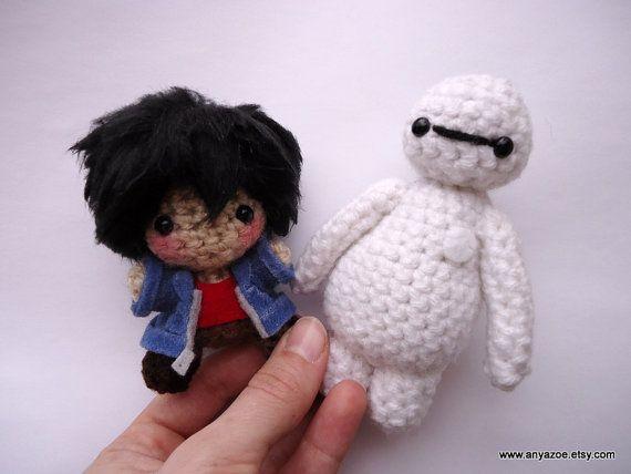 Hiro och BeyMax som gulliga #amigurimi